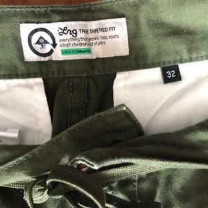 Lrg Pants - LRG Forest Green Drawstring Chino Pants 🌲
